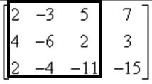Podwyznacznik z macierzy głównej w przykładzie