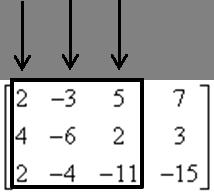 Wybór kolumn w macierzy głównej - przykład
