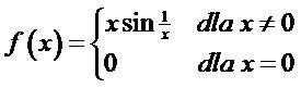 Funkcja z przykładu 1 f(x)