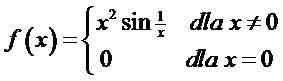 Funkcja f(x) z przykładu 2