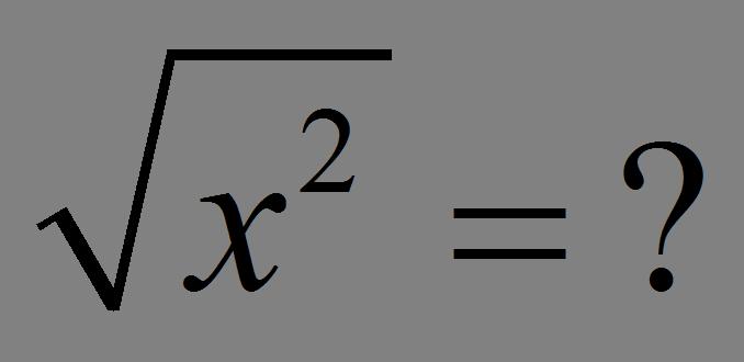 Pierwiastek z x do kwadratu