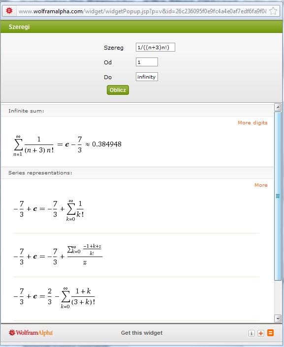Wynik z kalkulatora