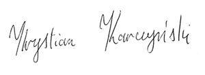 Podpis Krystiana Karczyńskiego