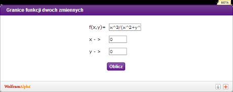Kalkulator do funkcji dwóch zmiennych - obrazek
