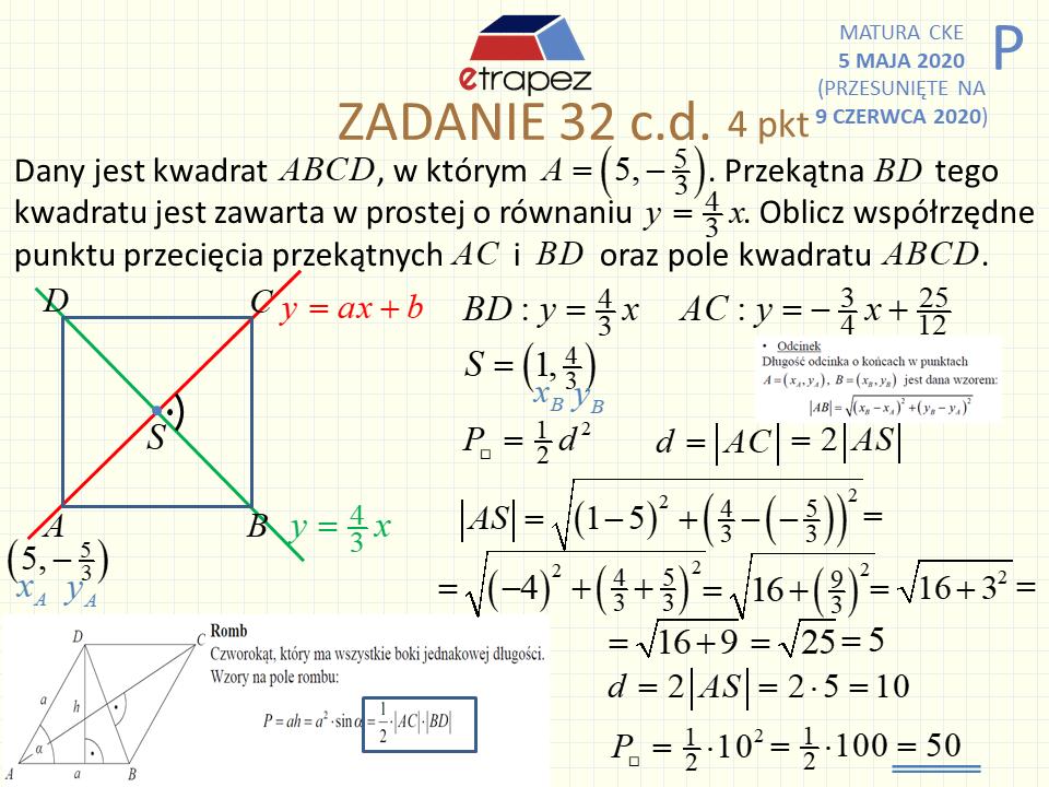 matura rozszerzona matematyka maj 2012