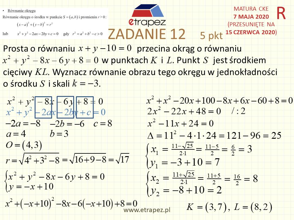 maj 2021 matura matematyka rozszerzona