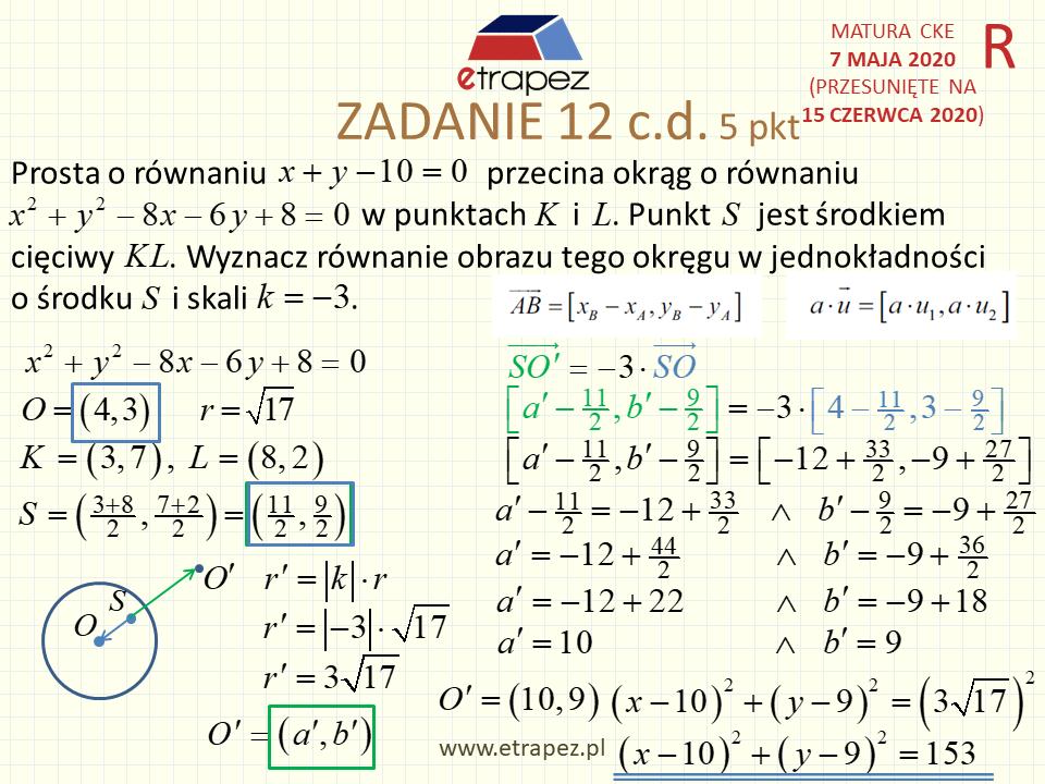 matura rozszerzona matematyka 2020 kiedy
